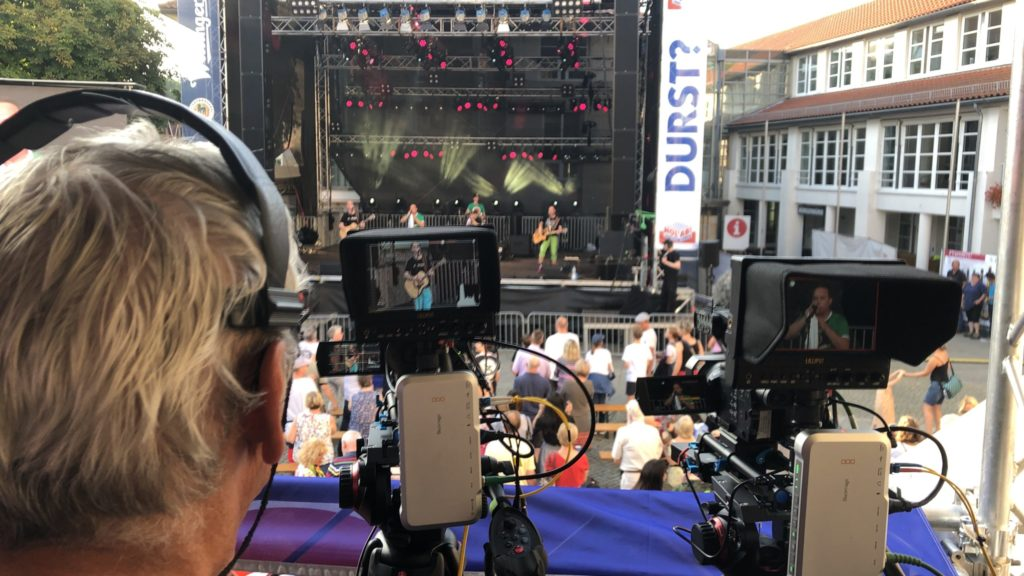 Kameraarbeit beim Altstadtfest Gifhorn