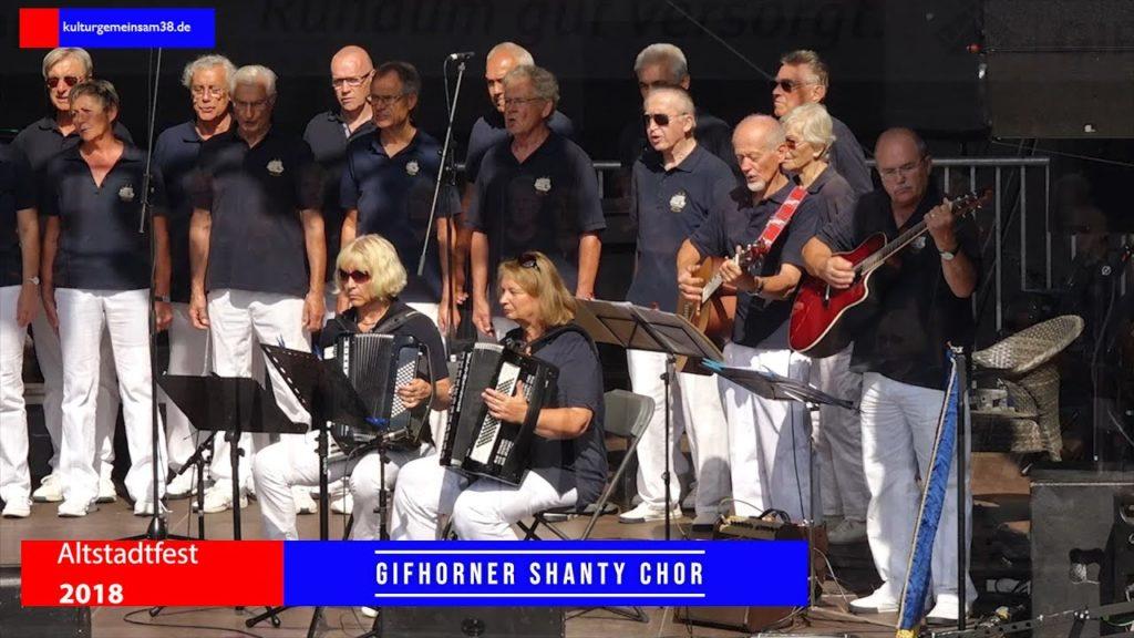 Gifhorner Shanty Chor auf dem Altstadtfest Gifhorn 2018